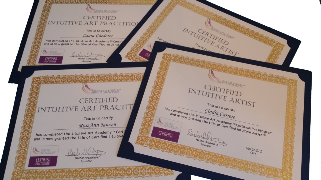 certified intuitive artist certificates